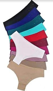 Calcinha tanga Sem costura Kit Com 12 corte a laser Isa lingerie
