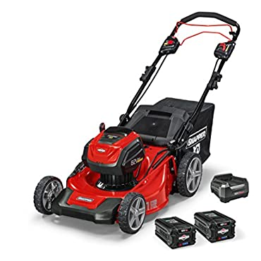 Snapper XD 82V MAX Cordless Electric 21 Self-Propelled Lawn Mower Kit with (2) 2.0 Batteries & (1) Rapid Charger