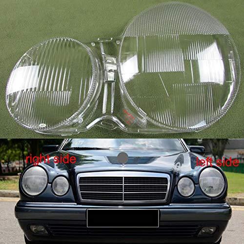 NO LOGO, WSF-Headlight Cover, Scheinwerfergehäuse gepasst for 1995-2003 Mercedes-Benz W210 E200 E240 E260 E280 Scheinwerfer Abdeckung transparenten Shell Scheinwerfergehäuse Lampshade Glaslinse