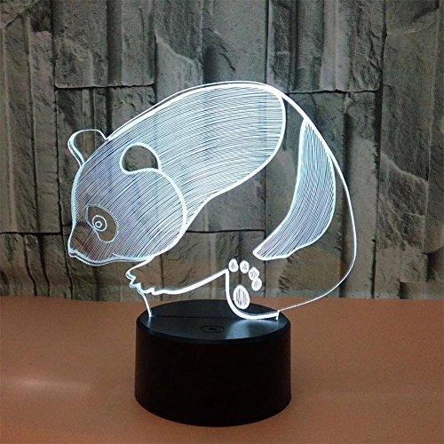 baby Q LED 3D Illusion Lampe, Lumières visuelles colorées de Contact de Panda, lumières créatrices acryliques de Cadeau, lumières actionnées par USB