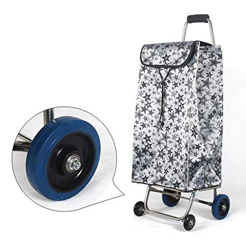 Carrito de la compra plegable de 4 ruedas de carros autoservicio peso...