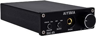 AIYIMA DAC Converter 24BIT/192kHz Digital Audio Converter Stereo Amplifier& DAC Headphone Amplifier Decoder for Speaker Home Audio System (Black)