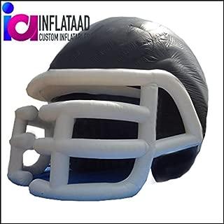 Inflatable Football Helmet Tunnel - Black/White