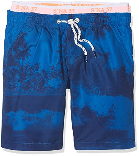 Sanetta Jungen 440427 Badeshorts, Blau (Atlas 5854), 128