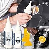 Vinyl Crackles Remover, Vinyl Record Cleaning, Album Cleaner Kit de Limpieza de Discos de Vinilo, Limpiador de Audio, Elimina Eficazmente la Suciedad, El Polvo y las Huellas Dactilares