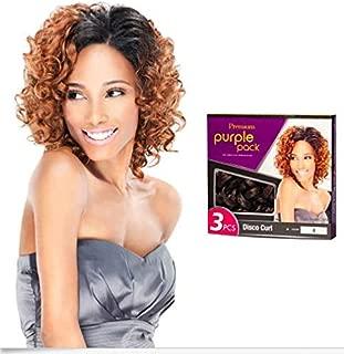 Outre Premium Purple Pack 3PC - 100% Human Hair Disco Curl (1B)