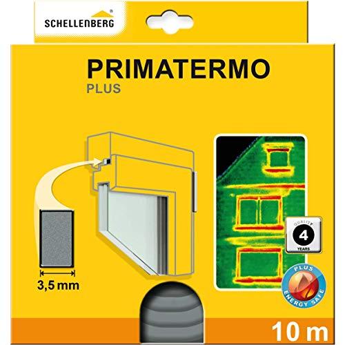 Schellenberg 66325 Dichtung Primatermo Plus Vollprofil 9 x 4 mm, 10 m, Türdichtung, Fensterdichtung