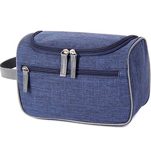 Kulturbeutel zum Aufhängen Kulturtasche zum Aufhängen Weihnachten Geschenk Reise Kosmetiktasche mit Tragegriff und Haken (Blau)