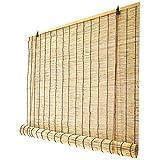 YUJ1ANHUAA Reed Rollo Bambusrollo,Lichtfilter Jalousien Retro,Dekorative Reed Vorhänge,Bambus Rollladen,Balkon Partition Vorhänge,für Outdoor Indoor Sonnenschutz,Anpassbare (100x122cm/39x48in)