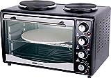 Silva-Homeline KK 2850 P Kleinküche zum Backen und Kochen, Heißluft- & Umluft Funktion, 27l