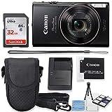 Canon PowerShot ELPH 360 HS Digital Camera (Black) Kit with Sandisk 32GB High Speed Memory Card + Camera Case + Starter Kit