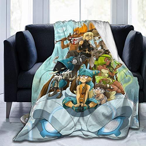 Wa-Kfu Fleece Blanket ¨C All Season,Lightweight & Plush Hypoallergenic - Microfiber Blankets for Bed,Couch Or Travel 50'X40'