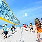 Defeat Red de voleibol de playa, plegable, juego completo de red con...