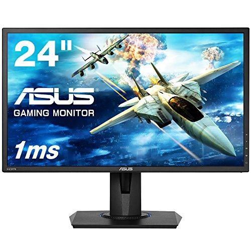 ASUSゲーミングモニターVG245H24インチフルHD/1ms/75HZ/HDMI2ポート/ピボット/昇降/フリッカーフリー/ブルーライト軽減/スピーカー付