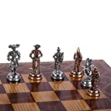 GiftHome (Only Chess Pieces) Historical Handmade Spanish Royal Guard Figures Metal Chess Pieces...