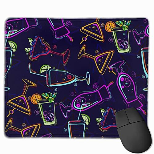 Farbige Weingläser Rechteckiges rutschfestes Gaming-Mauspad Tastatur Gummi-Mauspad für Heim- und Büro-Laptops