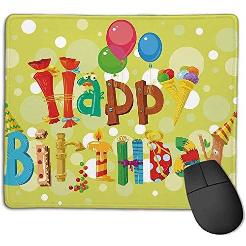 Muismat mousepadBirthday decoraties Alles goed voor verjaardag in schattige vormen grappige figuren ijs bonbons ballonnen muismat