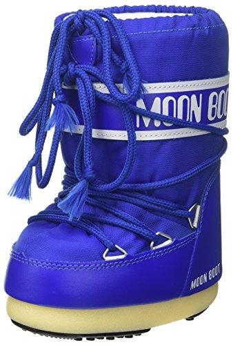 Moon Boot Nylon, Stivali Invernali Unisex Bambini, Blu (Blu Elettrico), 31-34