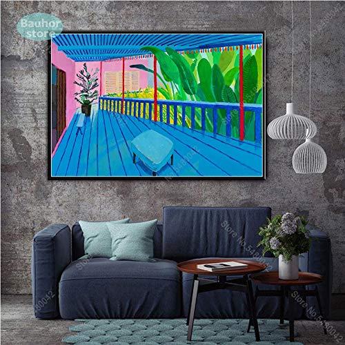 adgkitb canvas David Hockney EIN größerer Splashist Benutzerdefinierte heiße Neue Kunst Poster Top Leinwand Malerei Home Decor Wanddrucke Poster und Drucke 50x75cm