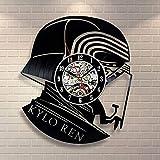 WZCXYX Kylo REN Star Wars Reloj con Disco de Vinilo Diseño para el hogar Habitación Decoración artística Hecho a...
