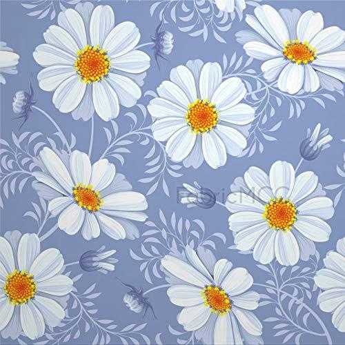 Juego de adhesivos decorativos para azulejos, diseño floral con estampado floral de flores, margaritas y flores silvestres de 10 x 10 cm, vinilo para decoración del hogar