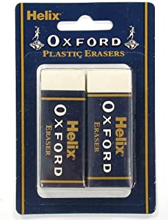Helix Oxford Large Sleeved Erasers Y27012 Large 2 Pack