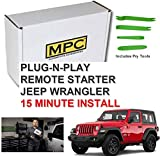MPC Remote Start for Jeep Wrangler 2007-2018 Key-to-Start - Plug N Play - Use Your Factory Remotes - Easy 15...