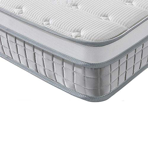 Vesgantti European Mattress 90x200 cm - 9.6 Inch Pocket Sprung Mattress with Breathable Foam and Individually Wrapped Spring - Medium Firm Feel, Modern Box Top Collection