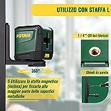 Immagine 2 livella laser verde 30m popoman