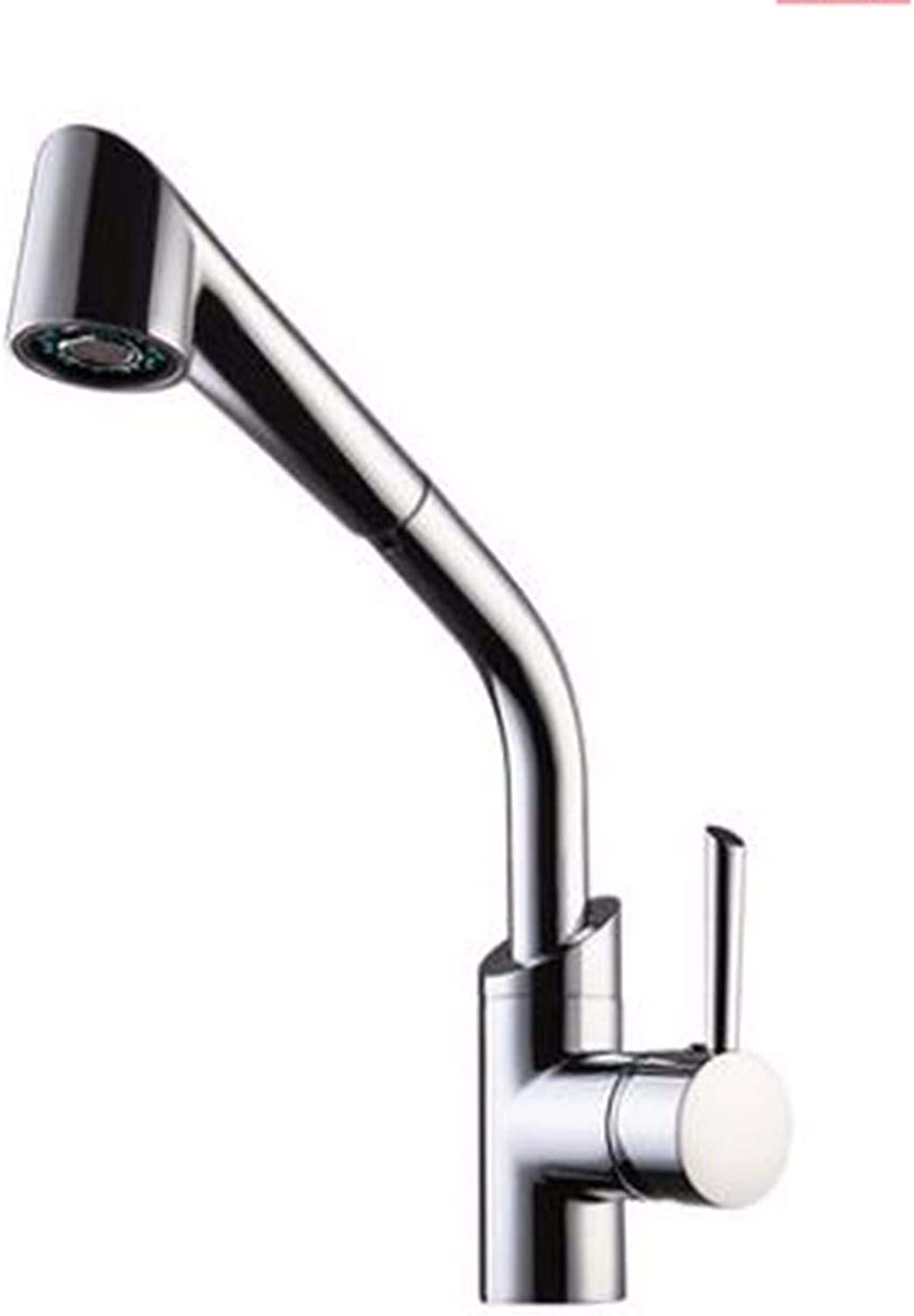 The Kitchen Pull-Out Type Cold And Hot Faucet Can Switch The Outlet Mode redate The Sink Wash Dishes And Wash Dishes.