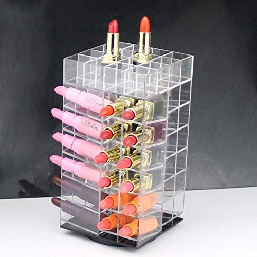 HUANGRONG Organisateur 64 Treillage Acrylique Rouge à lèvres Organisateur 360 degrés pivotée Rack Lipstick Tour Maquillage de Stockage Organisateur Ongles Porte-polonais (Color : 64 A)