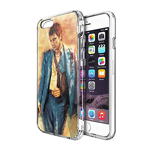 Roadiress TPU Pure Clear Compatibile con iPhone 6/6s Case Scarface Tony Montana Alpacino Classic Movies Phone Cases Protection Cover