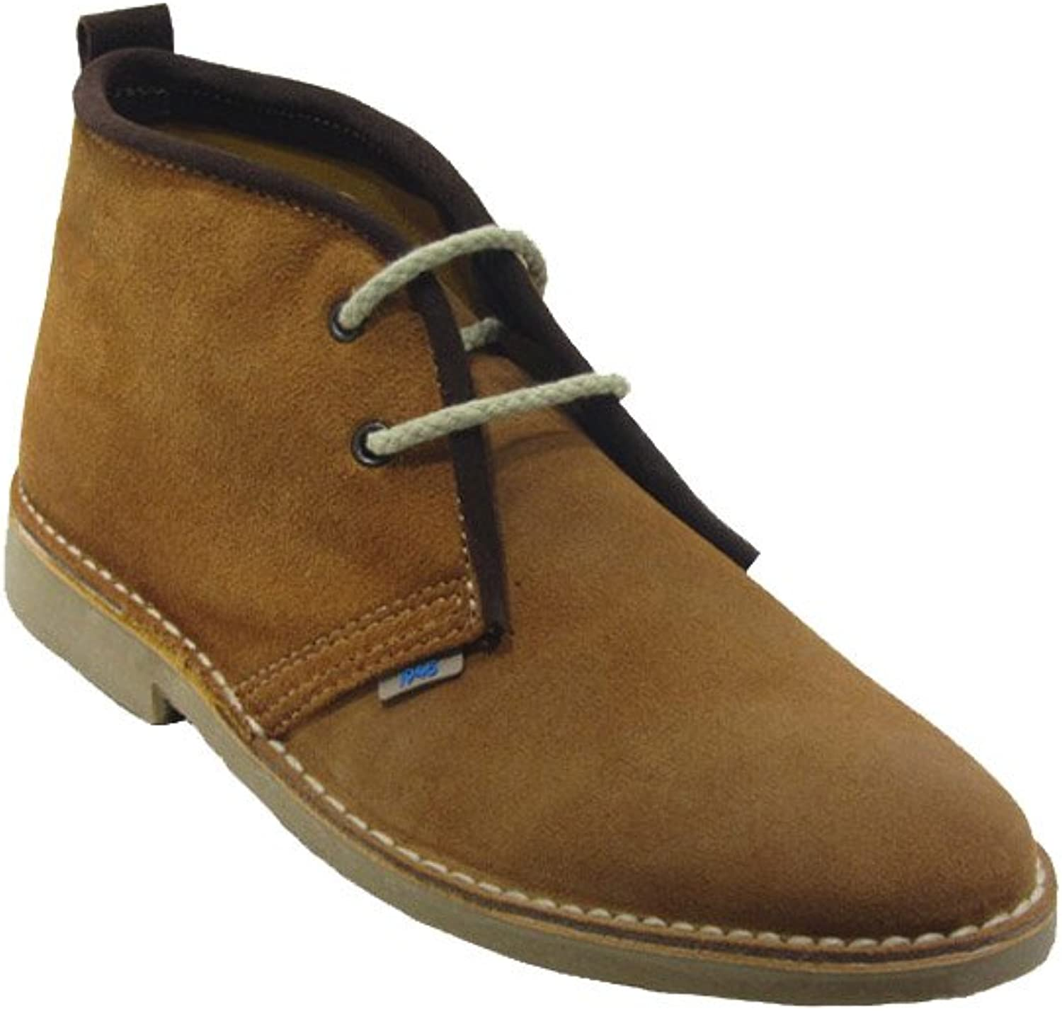 La Auténtica K100R - Desert Boot Italian tip Coloured Ribbon, Unisex Adult, Brown Firewood - Chocolate Brown