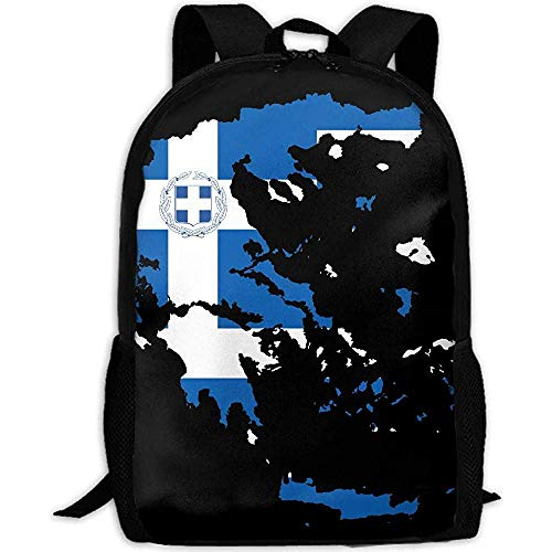 Rugzak Griekenland Map Flag Print Custom Travel Backpack Multipurpose Casual Daypack School Bag Volwassene