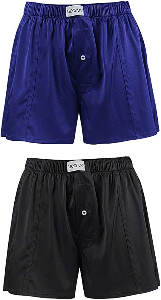 LilySilk Silk Boxers ランキングTOP5 Mens Breathable 6A Underwear Mulberry Real SALE