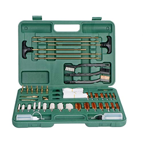 Buy U.S. Solid Gun Cleaning Kit – Pistol, Revolver, and Rifle Cleaning Kit, Universal Kit to Clean All of Your Guns, Brass Jags, Brass Tips