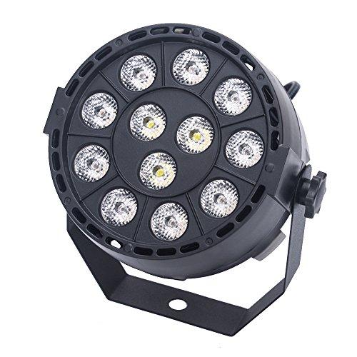 MHtech DMX512 RGB Disco LED Lichteffekt Discokugel LED DJ Lichteffekt Disco Weihnachten Beleuchtung 8 Kanal 15W Wechselstrom 100-240V (EU-TYPE)