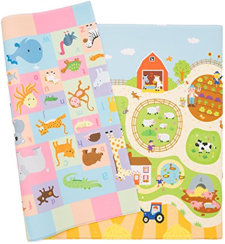Spielmatte - BABY CARE - Busy Farm - Large - 2,1m  1,4m  13mm