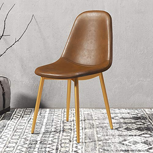 CKH - Soporte de hierro forjado dorado simple para el hogar, restaurante, oficina, silla de metal para ocio, silla creativa (color marrón)