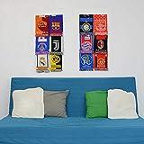 Estante de exhibición de bufandas deportivas - Soporte de exhibición de bufandas de fútbol (módulo doble)
