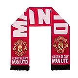 Manchester United FC - Bufanda oficial de punto - Jacquard - Rojo - «Glory, glory Man UTD»