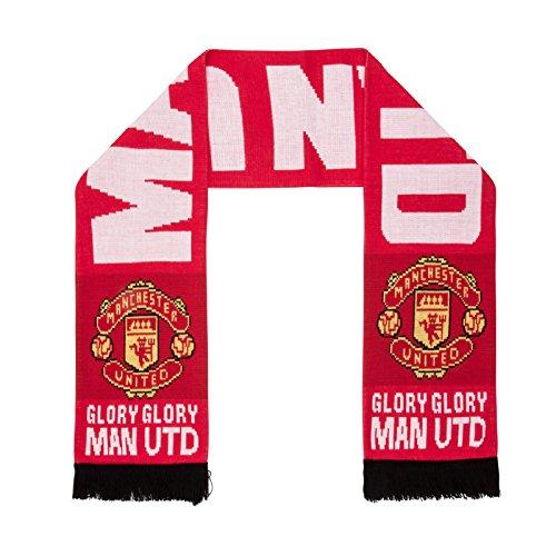 Man Utd 'Glory Glory' Scarf - Red - One Size