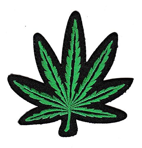 Bestellmich Cannabis Blatt Aufnäher Bügelbild Patch Applikation