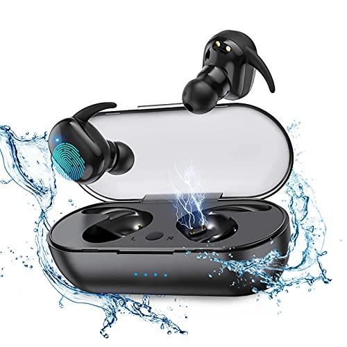 Cuffie Bluetooth Auricolari Bluetooth 5.0 Cuffie Senza Fili Cuffiette Sport IPX5 Impermeabili con Cuffie In-Ear da 24h per iOS Android Smartphone PC