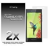 2x BlackBerry Leap - Bildschirm Schutzfolie Klar Folie Schutz Bildschirm Screen Protector Bildschirmfolie - RT-Trading