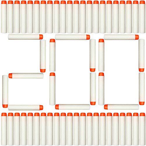 DEWEL Darts Pfeile für Nerf, 200 Stück Pfeile Weiß Schaumstoff Darts für Nerf N-Strike Elite Serie Blasters Toy Gun