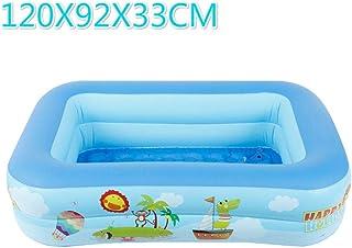 Geshu La Piscina se espesaba en los Interiores de Aire inflables Gran Familia, niños Jugando baño de Adultos,120X92X33CM