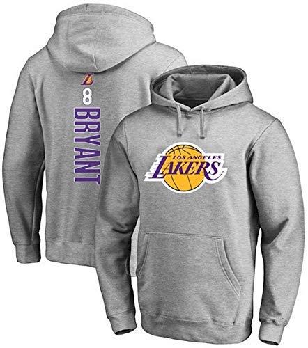 ZEH Sudadera de baloncesto para hombre, Bryant, sudadera con capucha, Los Ángeles Lakers 8, sudadera con capucha para otoño e invierno, de manga larga (talla pequeña) FACAI (talla L: grande)
