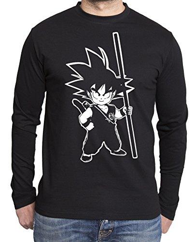 Sambosa - T-Shirt à Manches Longues - Homme - Noir - XXX-Large
