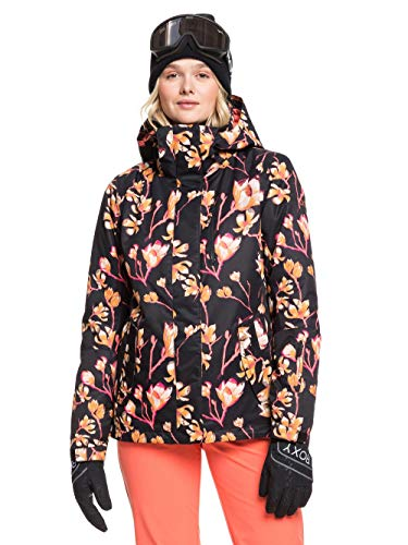 Roxy Damen 0 Snow Jacke, True Black Magnolia, L